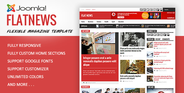 FlatNews – Magazine Joomla Template