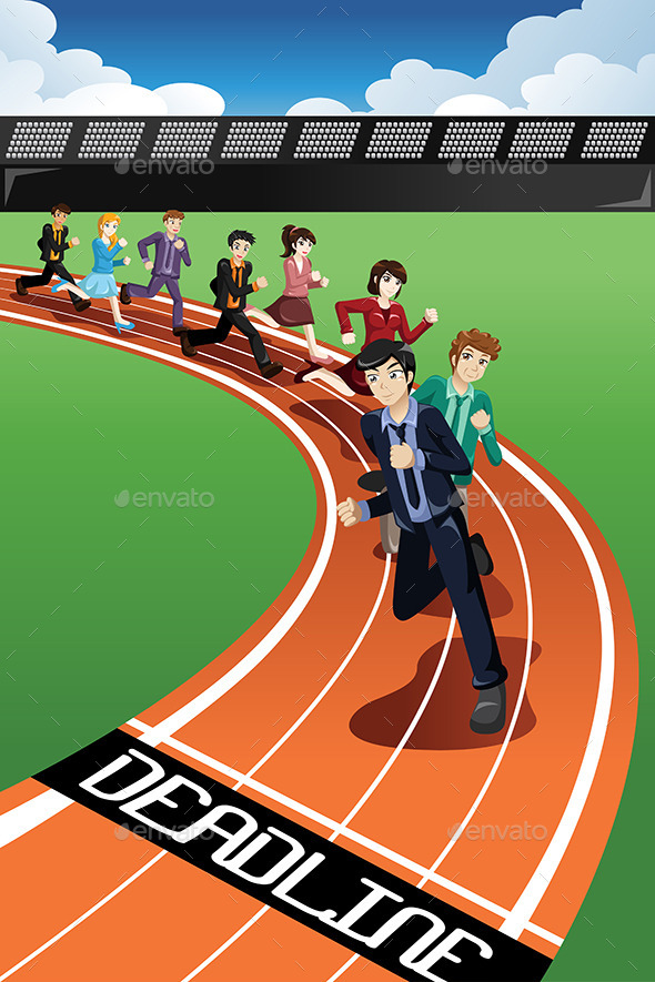 Business People Racing Against Time - Concepts Business