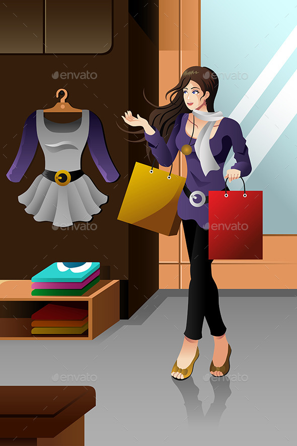Woman Shopping - Commercial / Shopping Conceptual