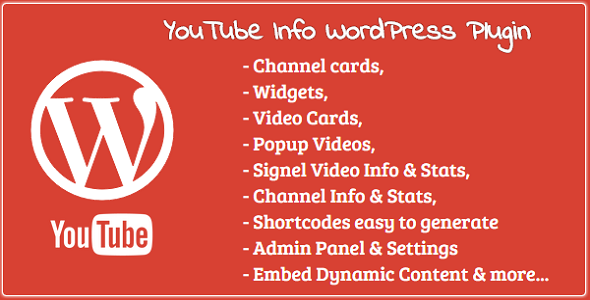 YouTube Info- Widgets Channel & Video Cards & more - CodeCanyon Item for Sale