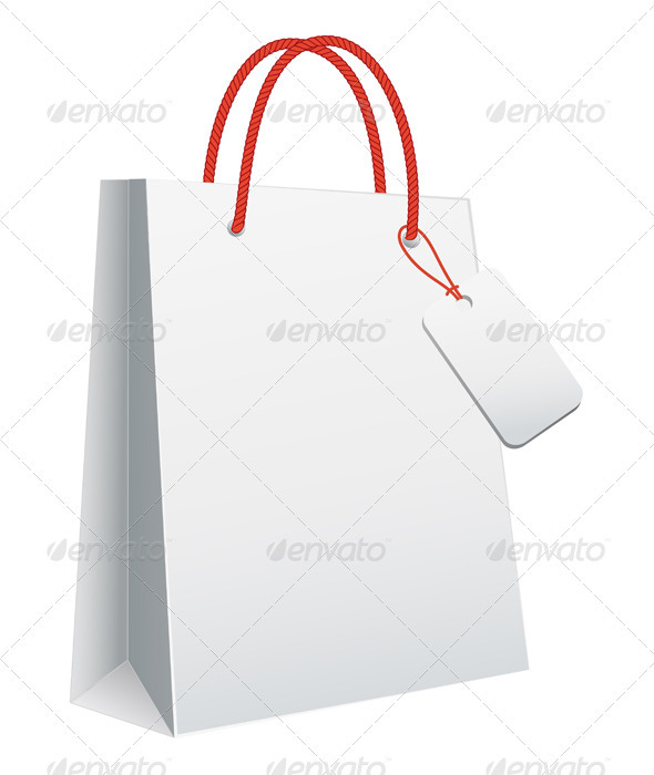 White Shopping Bag - Commercial / Shopping Conceptual