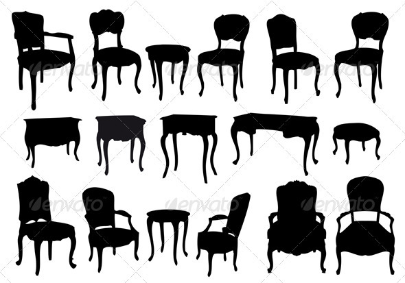 Antique Chairs And Tables - Man-made Objects Objects