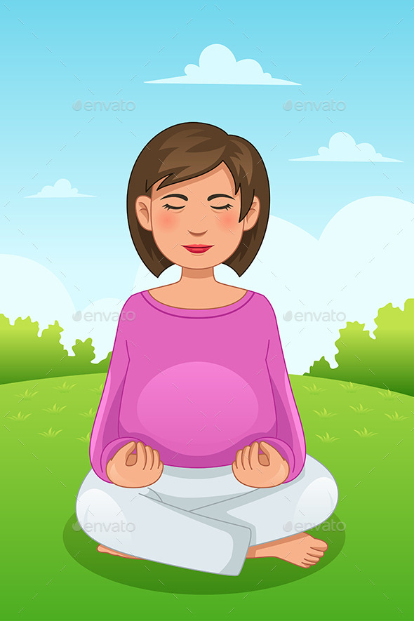 Pregnant Woman Doing Yoga - Sports/Activity Conceptual