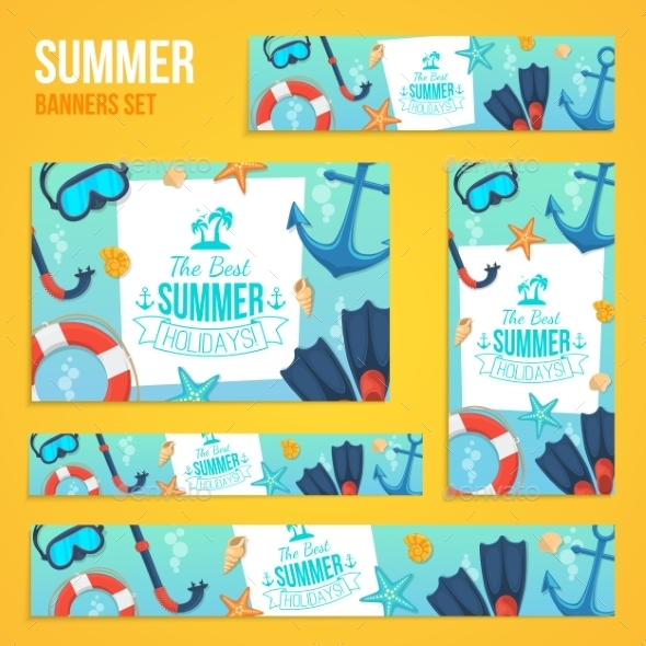 Summer Tropic Vacation Backgrounds Design.  - Miscellaneous Vectors