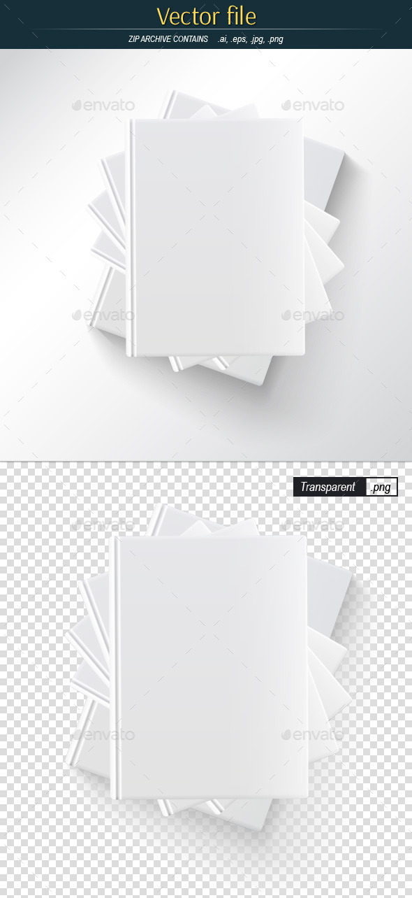 Stack of Book Blank Template - Man-made Objects Objects