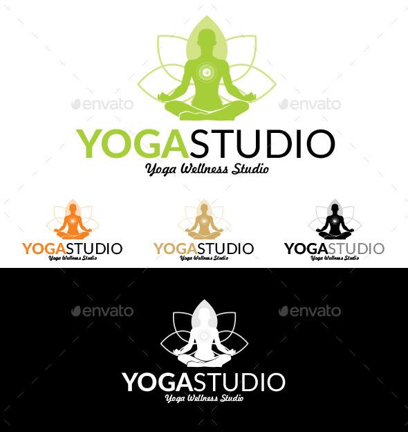 Yoga Studio 4 - Logo Templates