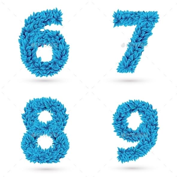 Set Of Numbers. - Decorative Symbols Decorative