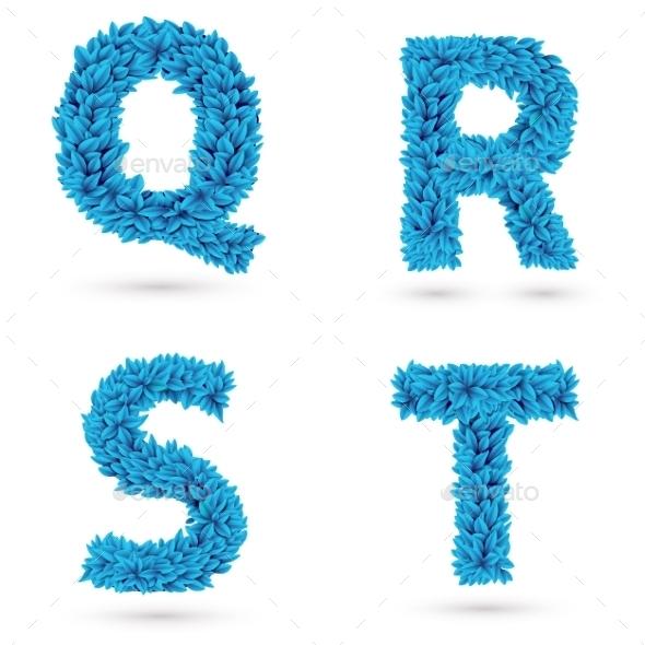 Set Of Letters. - Decorative Symbols Decorative