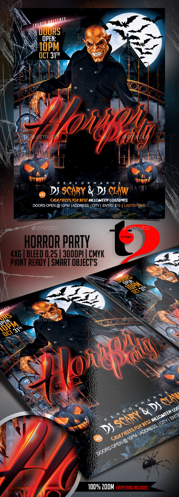 Horror Party Template - Clubs & Parties Events