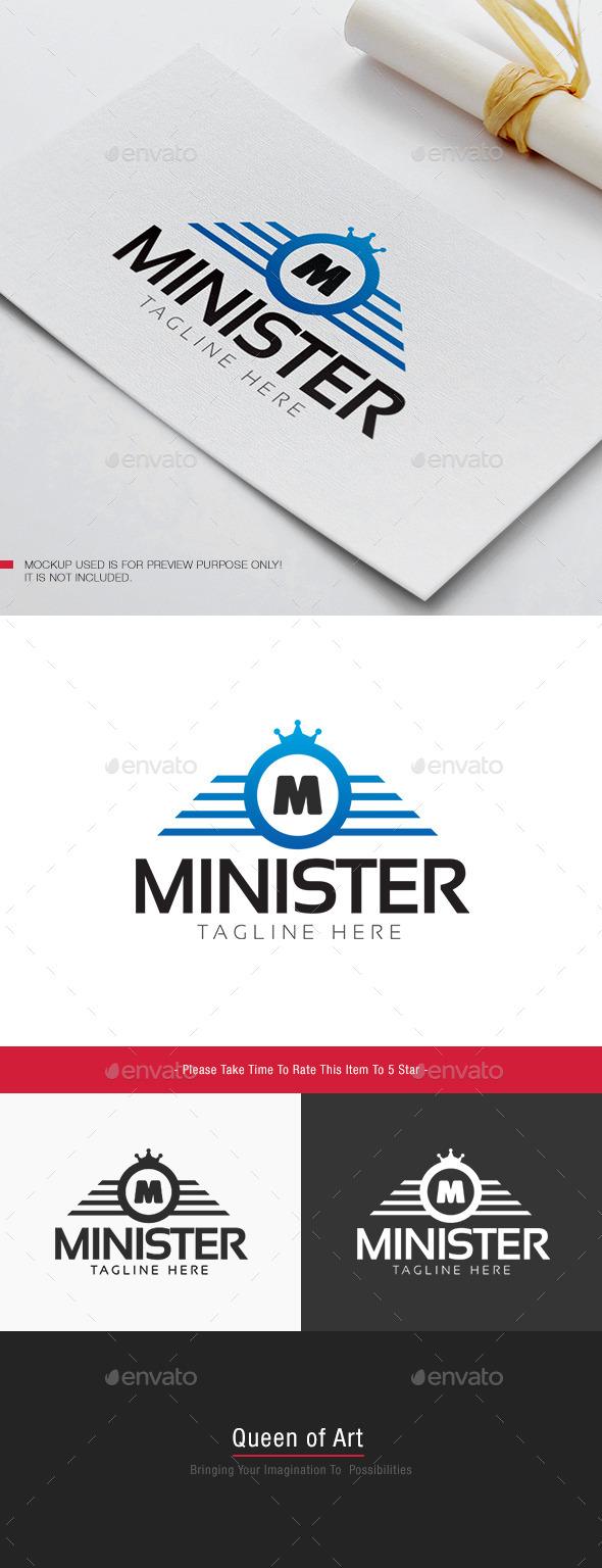 Minister Logo - Letters Logo Templates