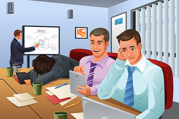 Boring Business Meeting - Business Conceptual