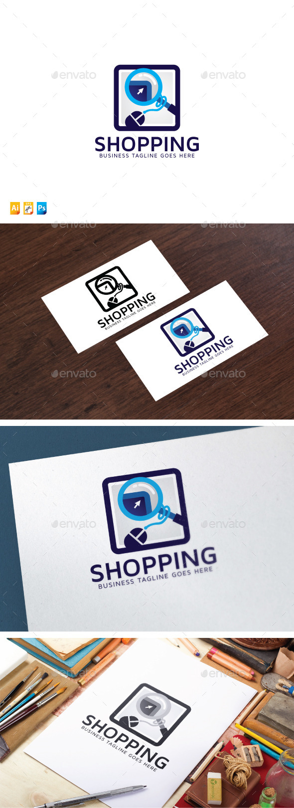 Shopping Search Logo - Objects Logo Templates