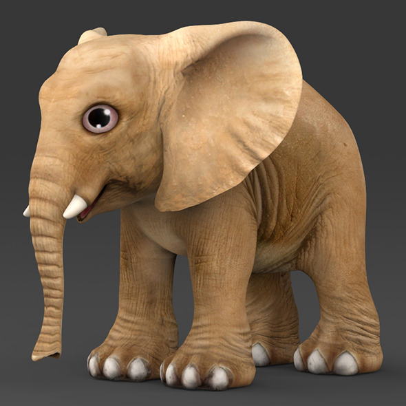 Baby Elephant - 3DOcean Item for Sale