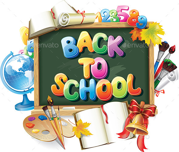 Back To School Background - Objects Vectors