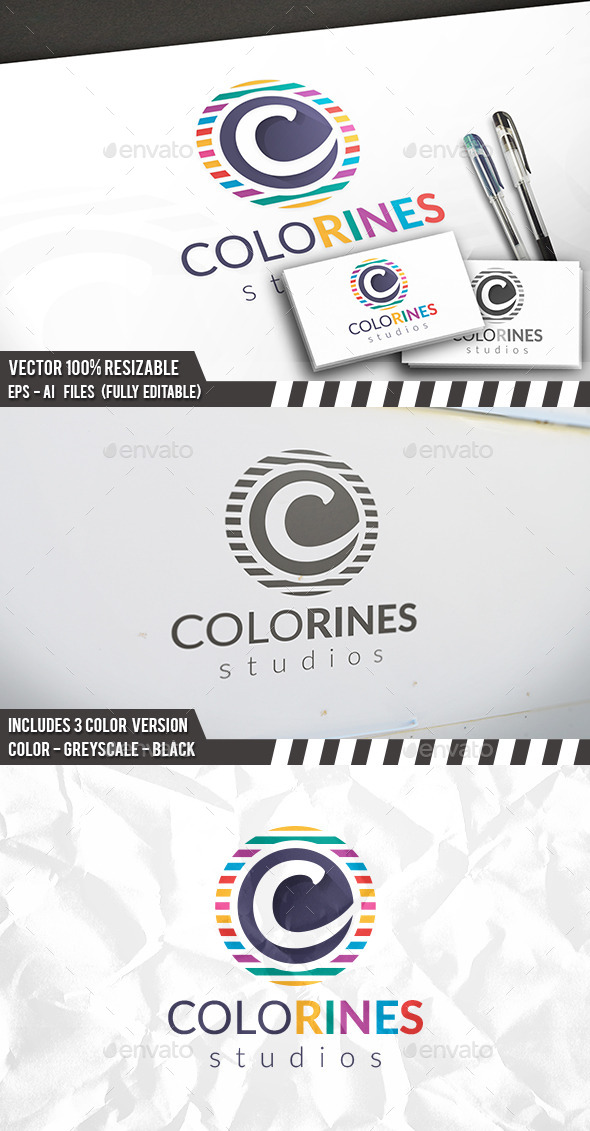 Colorful C Letter Logo