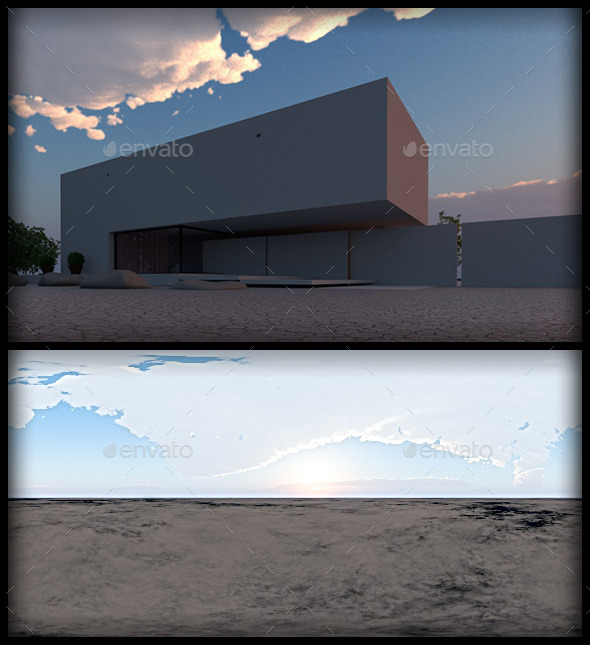 Sunset with Volumetric Clouds HRDi - 3DOcean Item for Sale