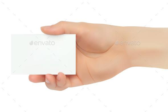 Hand holding business card by grebenuk graphicriver hand holding business card concepts business colourmoves