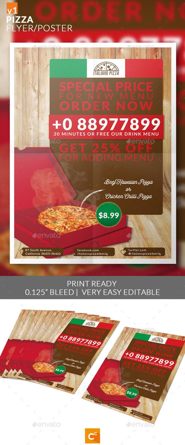 Pizza Flyer/Poster - Restaurant Flyers