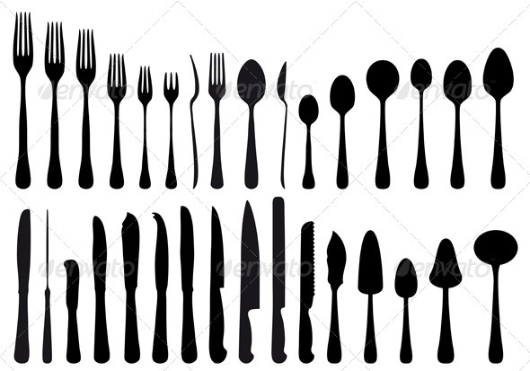 Cutlery Set - Man-made Objects Objects