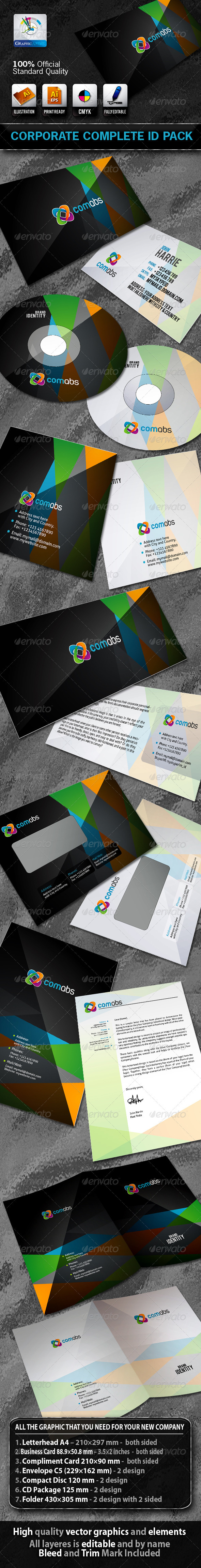 ComAbs Business Corporate ID Pack + Logo - Stationery Print Templates