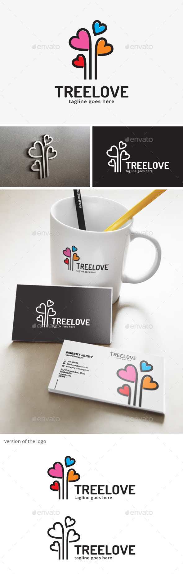 Tree Love Logo  - Objects Logo Templates