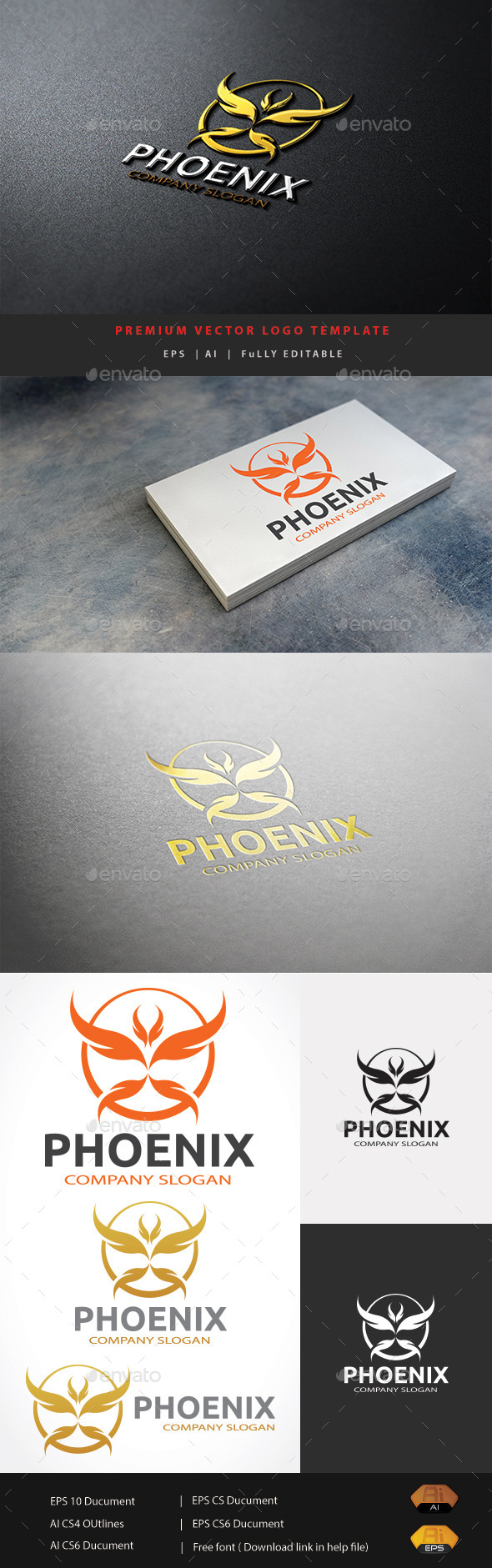 Phoenix Logo - Abstract Logo Templates