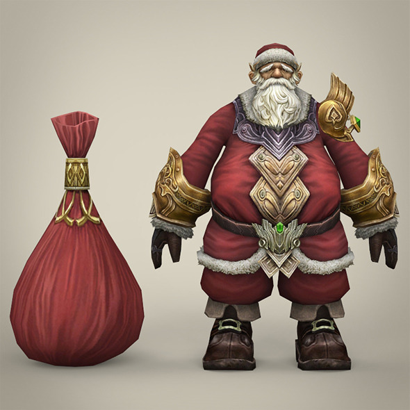 Fantasy Santa Claus with Bag - 3DOcean Item for Sale