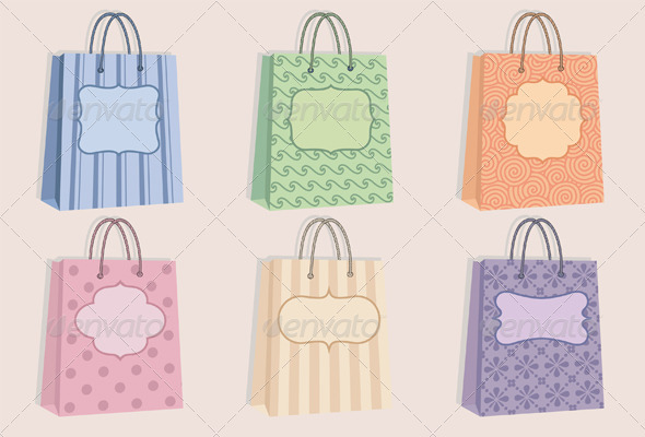 Shopping Bags With Labels - Commercial / Shopping Conceptual