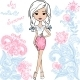 Vector Fashion Cute Happy Girl - GraphicRiver Item for Sale