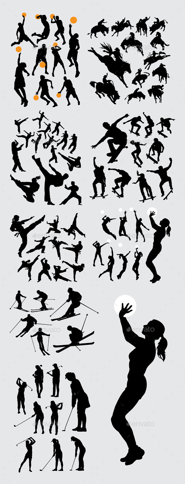 Sport Training Silhouettes