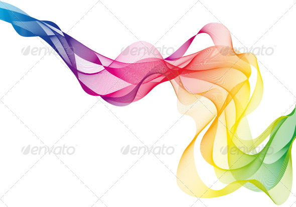 Colorful Vector Smoke - Backgrounds Decorative