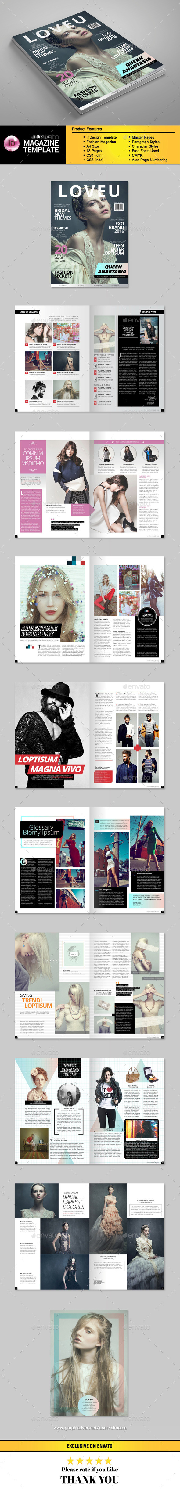 A4 InDesign Fashion Template - Magazines Print Templates