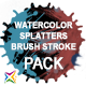 Download Watercolor, Paint Splatters & Brush Stroke PACK from VideHive