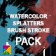 Watercolor, Paint Splatters & Brush Stroke PACK - VideoHive Item for Sale