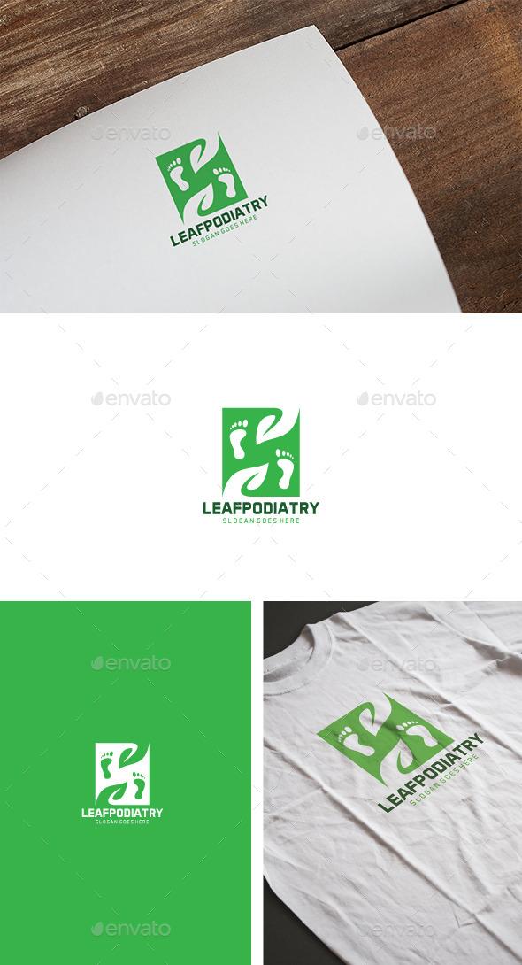 Green Podiatry Feet Logo - Nature Logo Templates