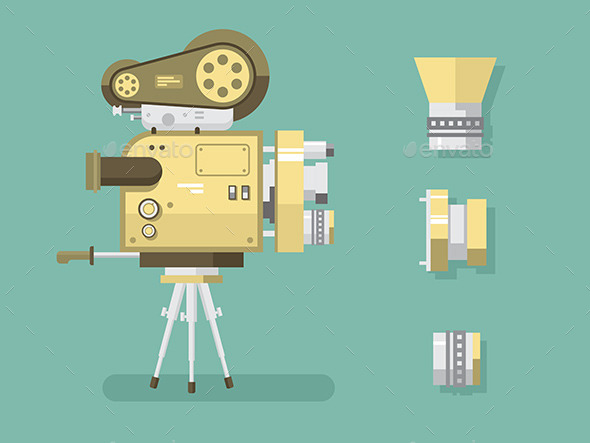 Retro Camera - Objects Vectors