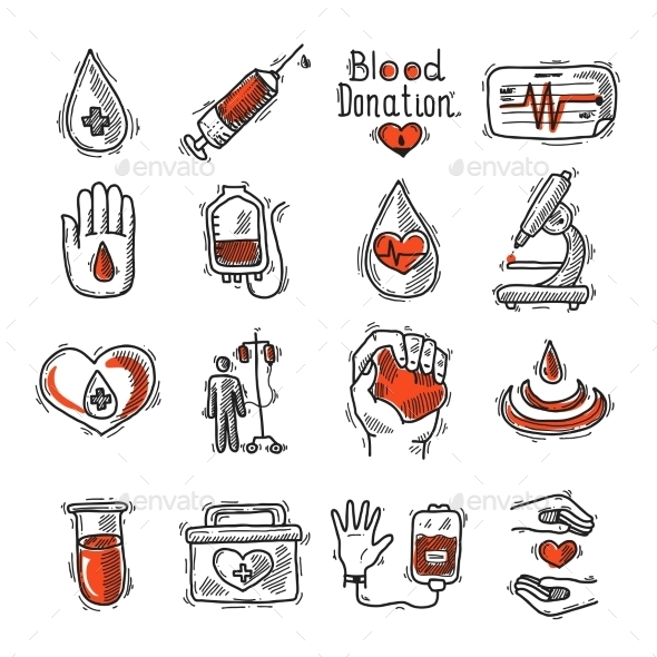 Donor Icon Set - Health/Medicine Conceptual