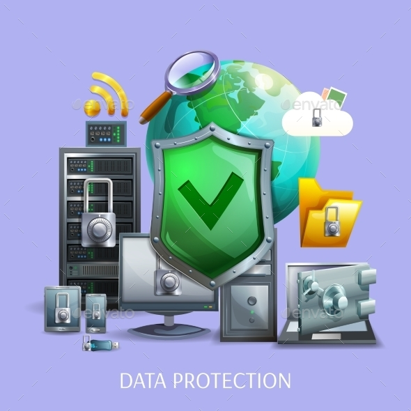 Data Protection Concept  - Web Technology