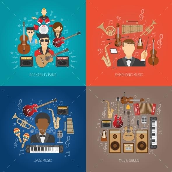 Music Design Concept Set - Miscellaneous Vectors