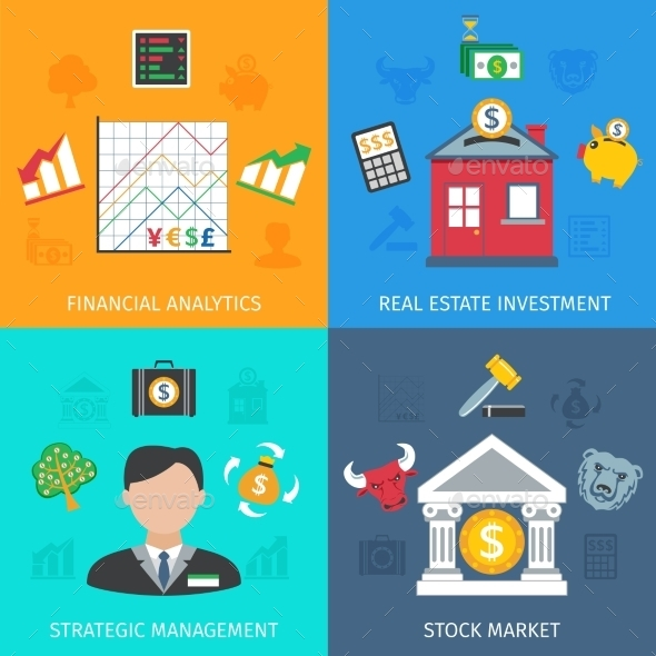 Investment Flat Set - Concepts Business