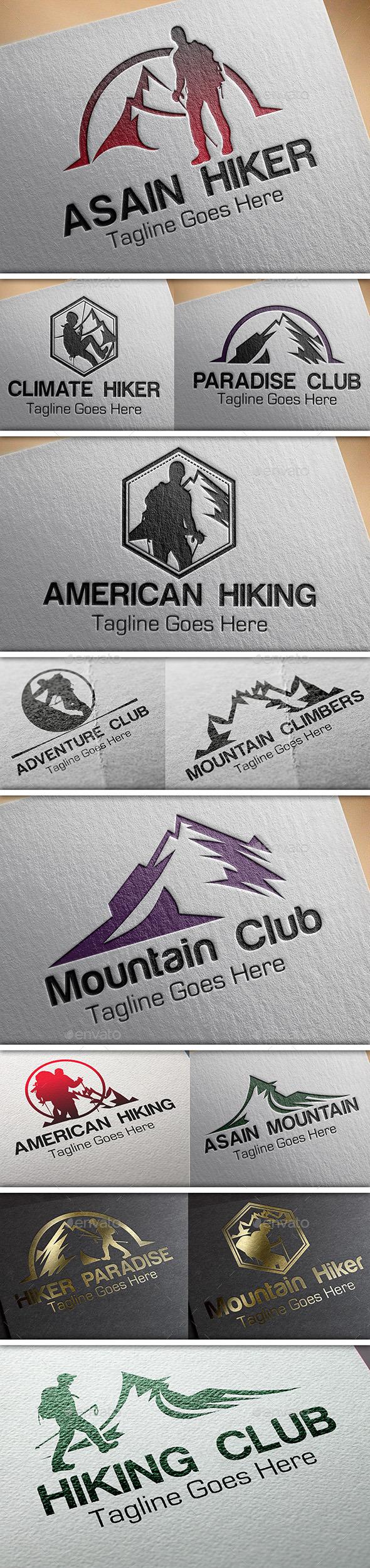 Heraldic Mountain Hiking Logo