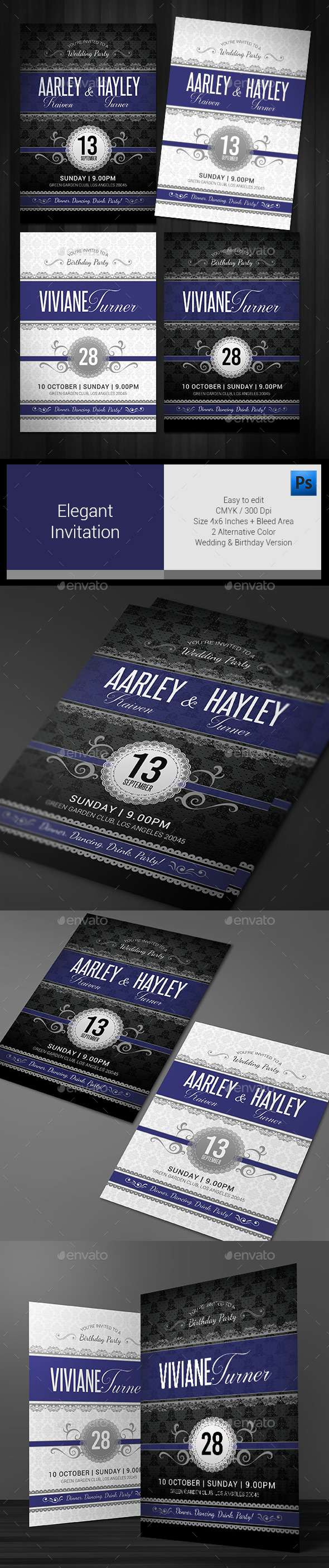 Elegant Invitation  - Invitations Cards & Invites