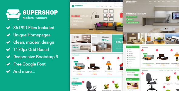 Supershop - Multi-Purpose eCommerce PSD Theme - Retail PSD Templates