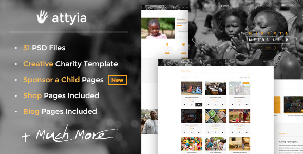 Attyia - Creative Charity PSD Template