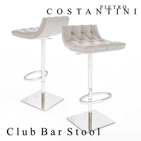 Constantini Pietro Club Bar Stool - 3DOcean Item for Sale