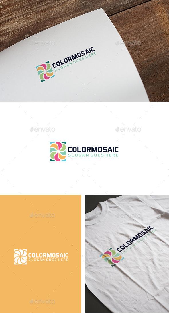 Color Mosaic Logo - Logo Templates