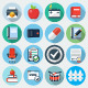 Flat Icons with long shadow, set 12 - GraphicRiver Item for Sale