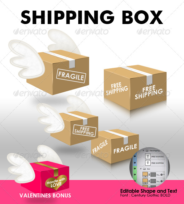 Shipping Box - Miscellaneous Graphics