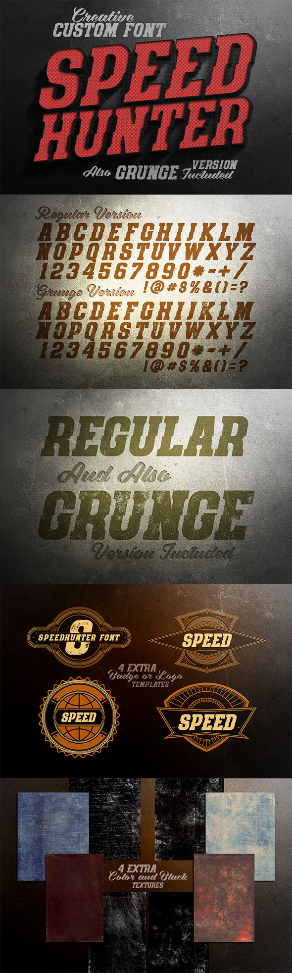 SpeedHunter Custom Font - Miscellaneous Serif