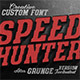 SpeedHunter Custom Font - GraphicRiver Item for Sale